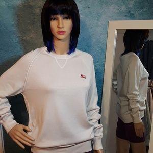 Burberry cream lightweight signature sweater Small